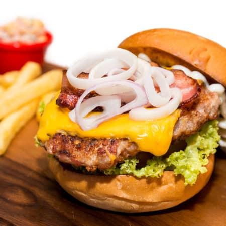 Pork Souvlaki Burgers All Products Burgers / Meatballs