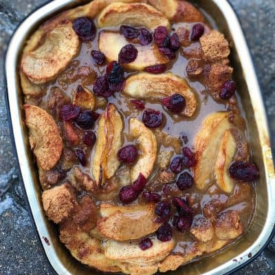 Caramel Apple Bread Pudding with Toffee Sauce All Products Meals-in-Minutes