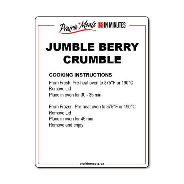 Jumble Berry Crumble All Products Meals-in-Minutes
