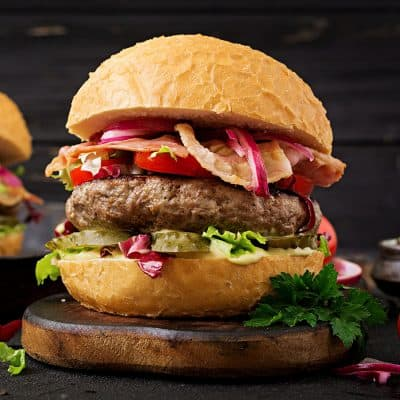 Deluxe BBQ Burgers All Products Burgers / Meatballs