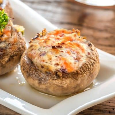 Bacon and 4 Cheese Stuffed Mushroom All Products No Gluten Added