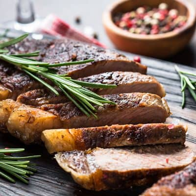 Smoked Peppercorn New York Striploin Steak All Products Smoked