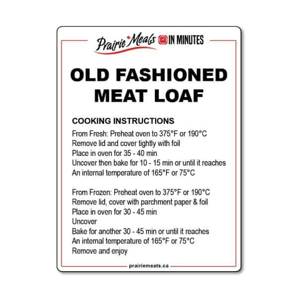 Old Fashioned Meatloaf All Products Meals-in-Minutes