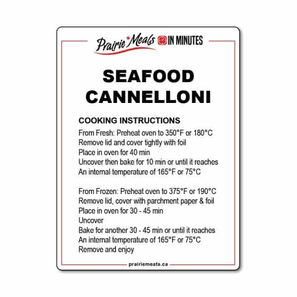 Seafood Cannelloni All Products Meals-in-Minutes