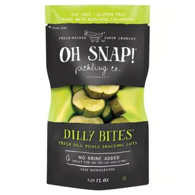 Oh Snap! Dilly Bites – Fresh Dill Pickle Snacking Cuts All Products No Gluten Added