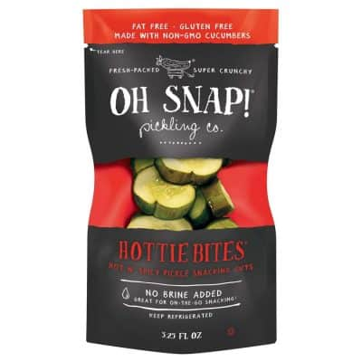 Oh Snap! Hottie Bites – Hot & Spicy Pickle Snacking Cuts All Products No Gluten Added